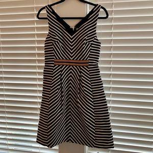 MAEVE Anthropologie Mitered Striped Dress